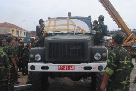Hình ảnh đoàn xe quân sự phục vụ Lễ tang Đại tướng tại Quảng Bình - Ảnh 11