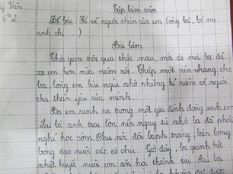 Xôn xao bài văn con gái viết về người cha công nhân gặp nạn - Ảnh 1