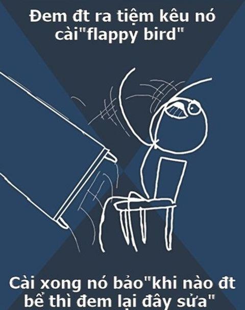 """Hài hước ảnh chế """"sự tức giận"""" của người chơi Flappy Bird  - Ảnh 2"""