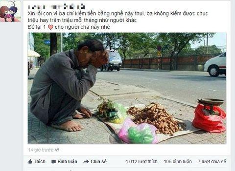 Nhói lòng khi nhìn thấy hình ảnh người cha nghèo - Ảnh 1