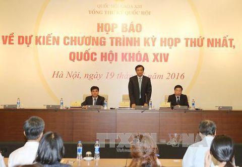 Kỳ họp thứ nhất, Quốc hội khóa XIV bàn nhân sự cấp cao - Ảnh 1
