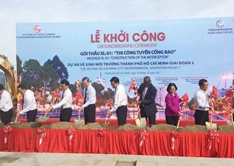 Môi trường - TP Hồ Chí Minh khởi công tuyến cống bao 85 triệu USD