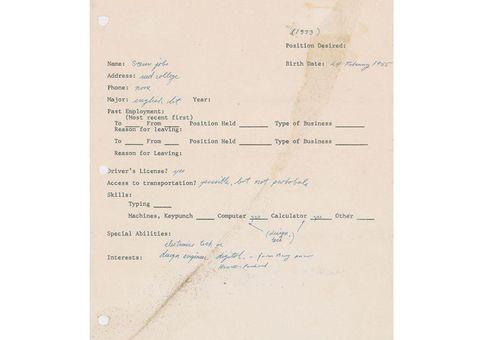 CV xin việc của Steve Jobs có giá 174.000 USD, gấp 3 lần dự đoán