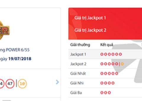 Kết quả xổ số Vietlott hôm nay 19/7/2018: Hé lộ bộ số trúng Jackpot 33 tỷ