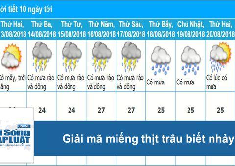 Tin tức - Dự báo thời tiết hôm nay 14/8: Hà Nội ngày nắng nóng 36 độ C, chiều tối có mưa