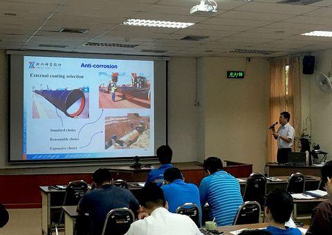 Công ty TNHH Ống gang cầu Xinxing diễn trình kỹ thuật tại Thái Lan