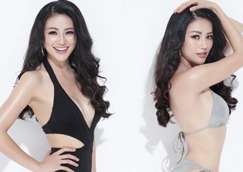 """Phương Khánh khoe """"eo con kiến"""", kêu gọi bình chọn tại Miss Earth 2018"""