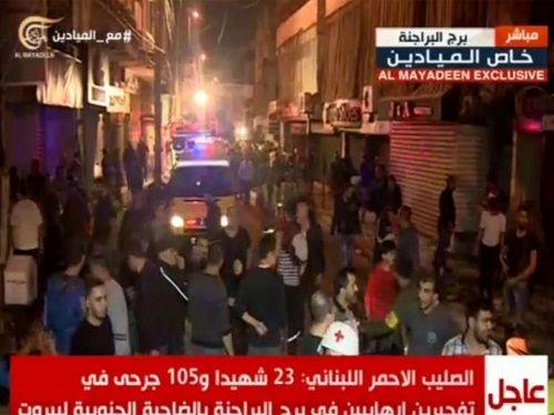 Đánh bom kép ở thủ đô Beirut, gần 300 người thương vong - Ảnh 1