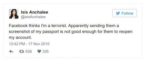 Nữ kỹ sư bị chặn tài khoản Facebook vì có tên thật là...Isis - Ảnh 2