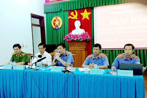 Họp báo công bố cáo trạng vụ sát hại 6 người ở Bình Phước - Ảnh 1