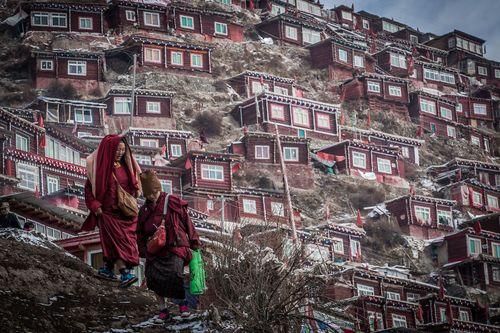 Cận cảnh Học viện Phật giáo lớn nhất thế giới - Ảnh 1