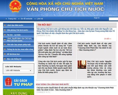 Khai trương trang thông tin điện tử Văn phòng Chủ tịch nước - Ảnh 1