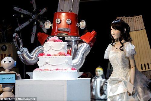 Kỳ lạ đám cưới robot diễn ra tại Tokyo - Ảnh 3
