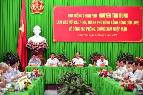 Thủ tướng làm việc với các tỉnh ĐBSCL về phòng, chống xâm nhập mặn - Ảnh 1