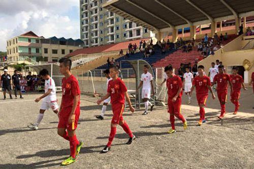 Đánh bại U16 Singapore, U16 Việt Nam tiến vào bán kết với ngôi nhất bảng - Ảnh 1