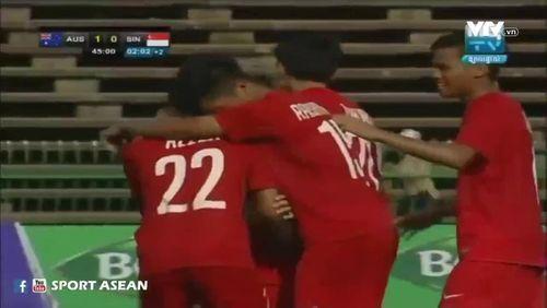 Sao U16 Singapore lập siêu phẩm từ giữa sân như Beckham - Ảnh 1