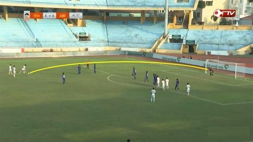 Cầu thủ U19 Lào lập siêu phẩm sút phạt như Gareth Bale cháy lưới Thái Lan - Ảnh 1