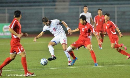 Cầu thủ Philipines phối hợp đá phạt siêu ảo tung lưới Triều Tiên - Ảnh 1