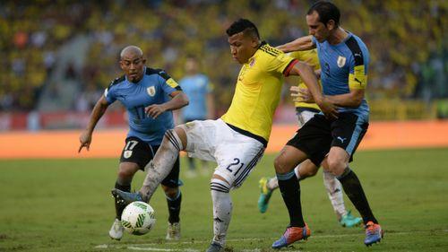 Colombia 2-2 Uruguay: Uruguay mất ngôi đầu - Ảnh 1