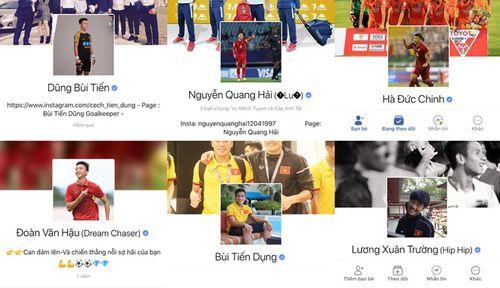 Trang Facebook cá nhân nhiều cầu thủ U23 Việt Nam có dấu tick xanh - Ảnh 1