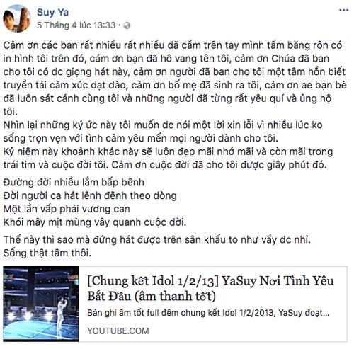 Quán quân Vietnam Idol 2012 Ya Suy bất ngờ từ bỏ sân khấu - Ảnh 2