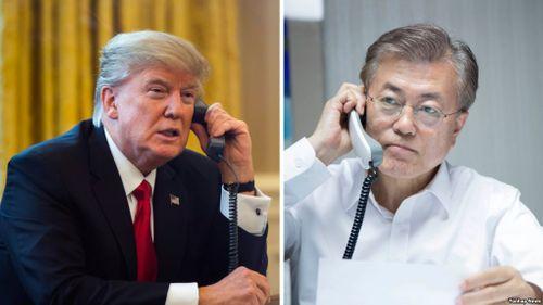 Tổng thống Trump điện đàm với Tổng thống Moon về hội nghị Mỹ-Triều - Ảnh 1