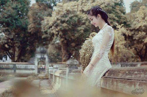 """Ngất ngây vẻ đẹp """"nghiêng nước nghiêng thành"""" nữ sinh xứ Tuyên - Ảnh 8"""