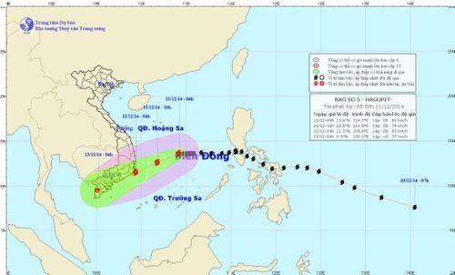 Bão số 5 có khả năng đổi hướng, đe dọa Nam Trung Bộ - Ảnh 1