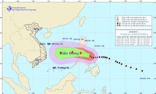 Siêu bão Hagupit tiến gần biển Đông - Ảnh 1
