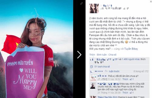 Xôn xao cô gái 9X cầu hôn bạn trai trên đỉnh Fansipan - Ảnh 5