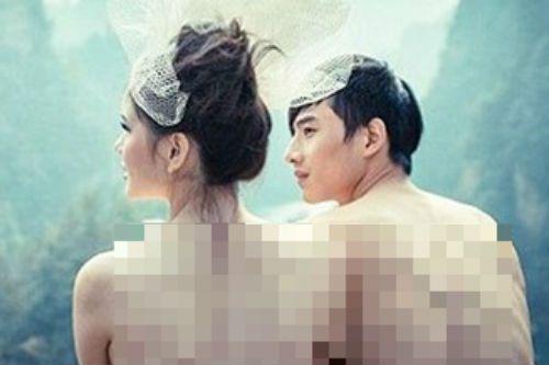 """Phản cảm ảnh cưới """"nude hoàn toàn"""" của cặp đôi người Trung Quốc - Ảnh 1"""