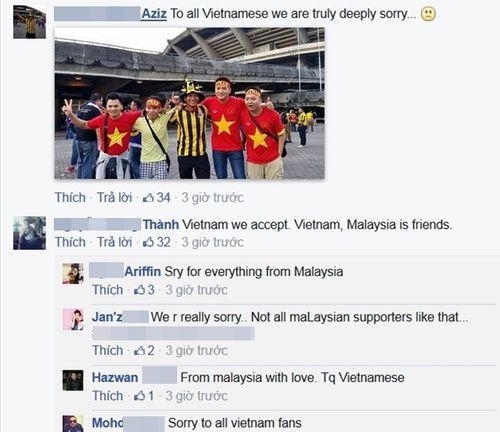 Người hâm mộ Malaysia đăng ảnh xin lỗi CĐV Việt Nam - Ảnh 5