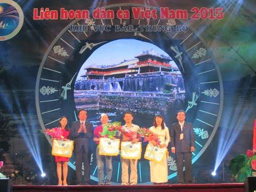 Khai mạc Liên hoan dân ca Việt Nam khu vực Bắc Trung Bộ 2015 - Ảnh 1
