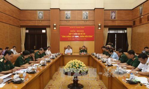 Quân ủy Trung ương góp ý xây dựng, chỉnh đốn Đảng - Ảnh 1