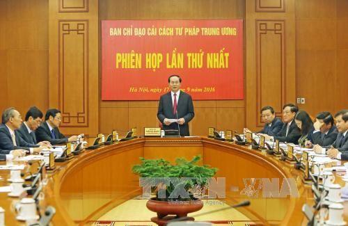 Chủ tịch nước chủ trì họp Ban Chỉ đạo Cải cách tư pháp TW - Ảnh 1