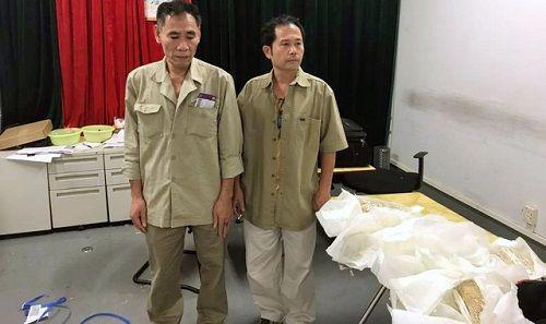 5 đối tượng quấn 30 kg vàng quanh người từ Hồng Kông về Việt Nam - Ảnh 2