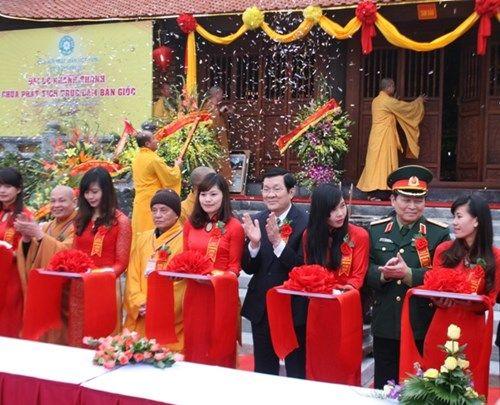 Chủ tịch nước dự lễ khánh thành chùa Phật tích Trúc lâm Bản Giốc - Ảnh 1