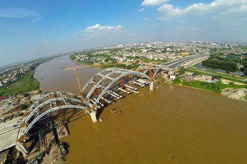Cầu vòm ống thép đầu tiên tại Việt Nam trên sông Đuống - Ảnh 13