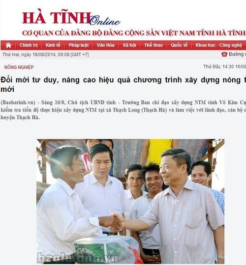 Chủ tịch UBND tỉnh Hà Tĩnh tặng bia cho ngư dân? - Ảnh 1