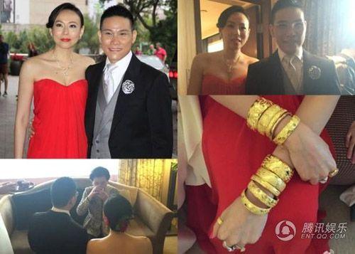 Vợ tài tử Hồng Kông đeo chi chít vàng trong ngày cưới - Ảnh 3
