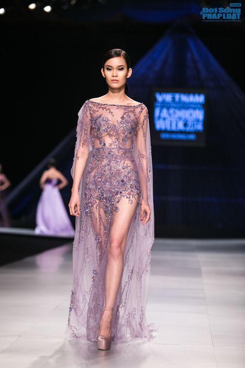 HH Thùy Dung làm nàng thơ trên sàn diễn thời trang của Hoàng Hải - Ảnh 10