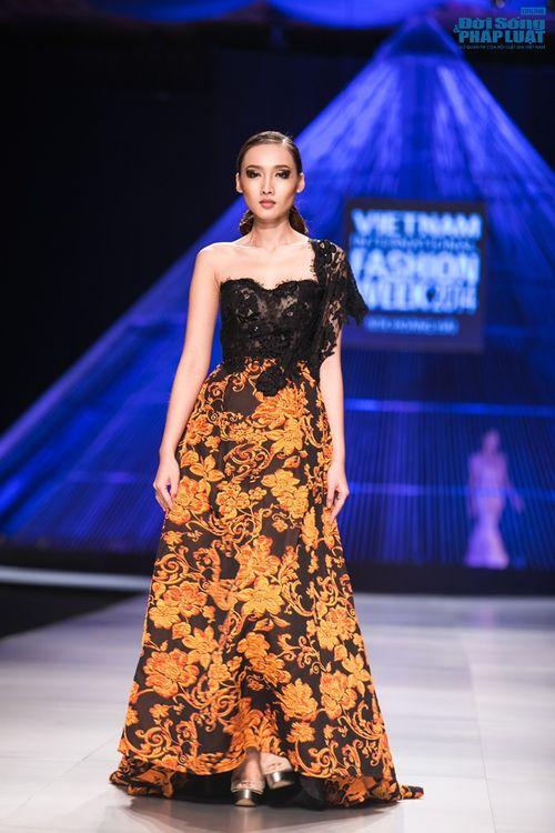 HH Thùy Dung làm nàng thơ trên sàn diễn thời trang của Hoàng Hải - Ảnh 16