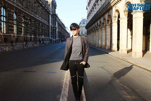 Nathan Lee diện cả cây hàng hiệu dạo phố Paris - Ảnh 4