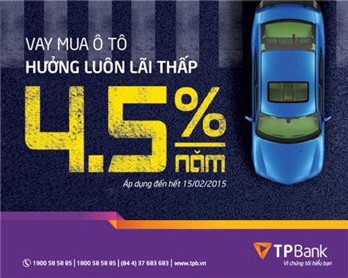 Vay mua ô tô chỉ với lãi suất từ 4,5%/năm tại TPBank - Ảnh 1
