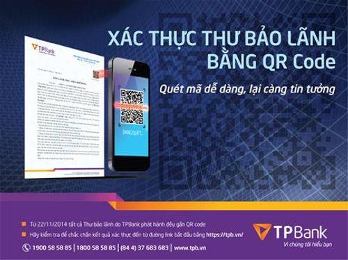 TPBank cung cấp tiện ích xác thực thư bảo lãnh bằng QR code - Ảnh 1