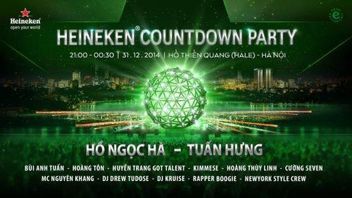 Heineken Countdown 2015 lần đầu tiên rực sáng sân khấu hồ Thiền Quang - Ảnh 2