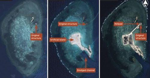 Trung Quốc ráo riết xây dựng đảo trái phép trên Biển Đông - Ảnh 1