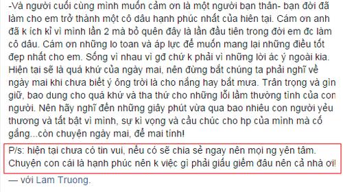 """Yến Phương - Vợ Lam Trường phủ nhận """"ăn cơm trước kẻng"""" - Ảnh 3"""