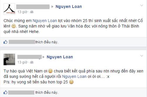 Cộng đồng mạng chúc mừng Nguyễn Thị Loan lọt Top 25 Hoa hậu thế giới - Ảnh 5