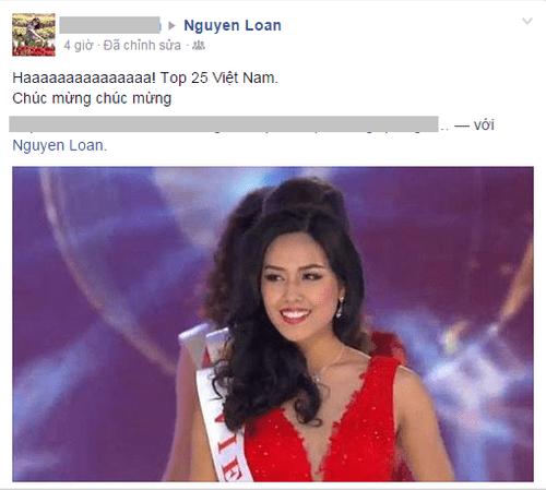 Cộng đồng mạng chúc mừng Nguyễn Thị Loan lọt Top 25 Hoa hậu thế giới - Ảnh 2